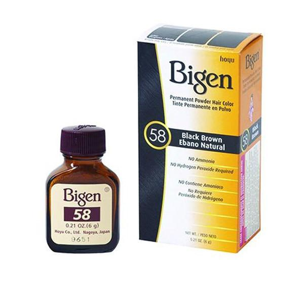 Bigen #58 Black Brown Powder Hair Color  .21oz