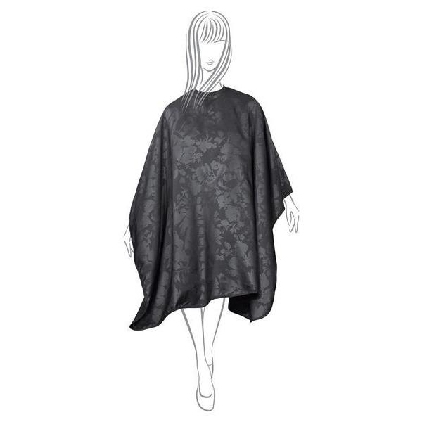 Fromm Black Collection Hairstyling Cape (Flower Print)