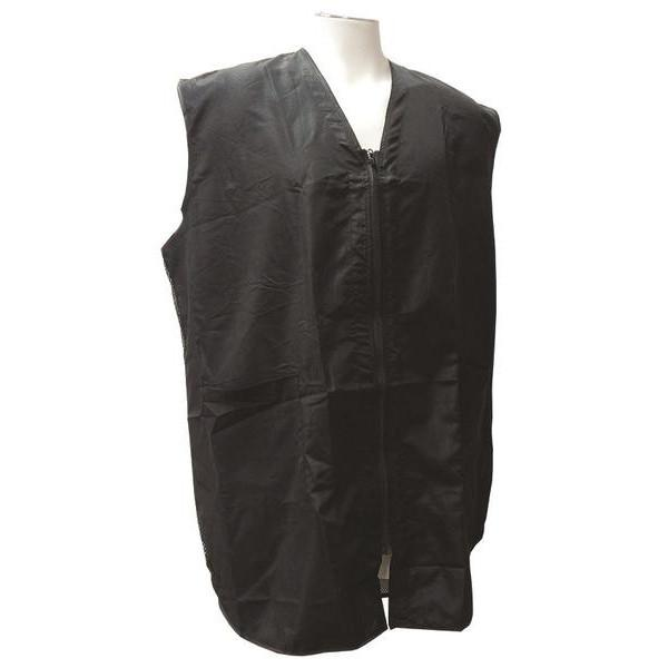 Vincent Black Fish Net Barber Vest
