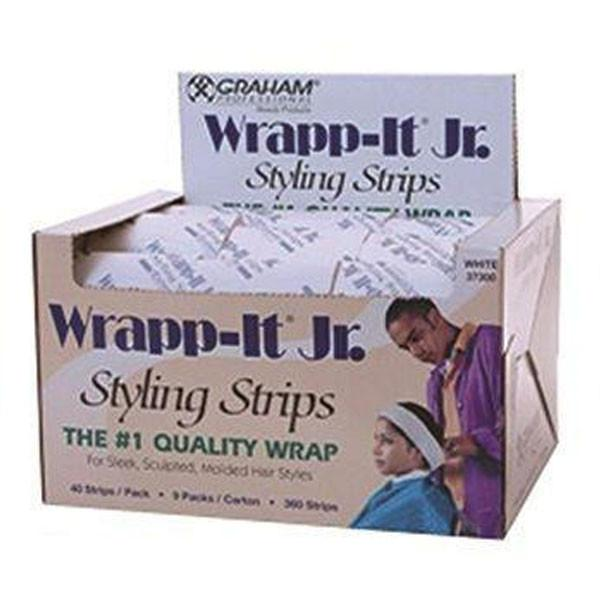 Graham Wrapp-It Jr. White Styling Strips