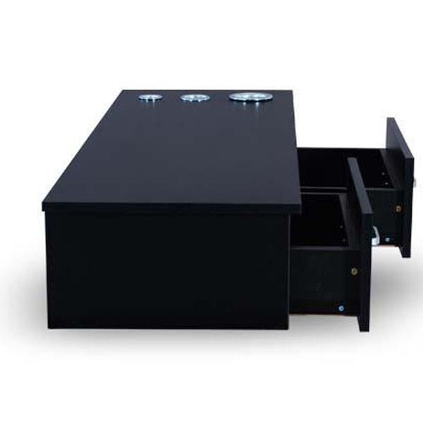 Double Drawer Counter Black Finish