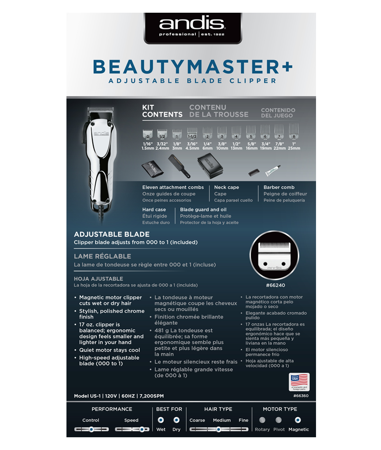 Beauty Master Adjustable Blade Clipper