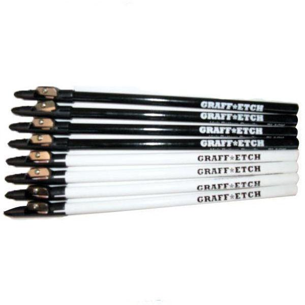 Graff*Etch Pencils (Blk/Wht)
