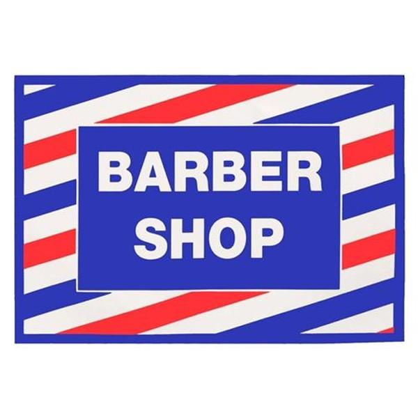 Barber Shop Cling Decal Sticker
