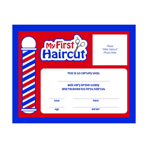 My First Haircut Certificates 12pk