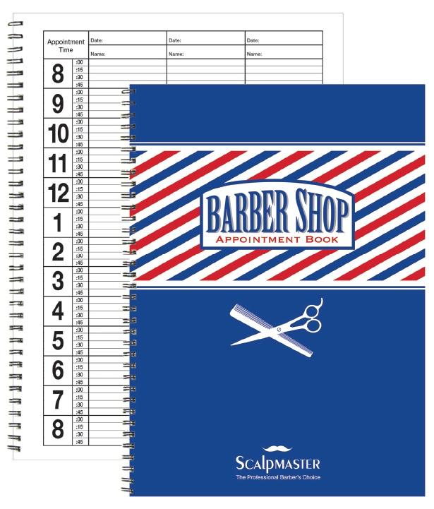 3 Column Barber Appointment Book