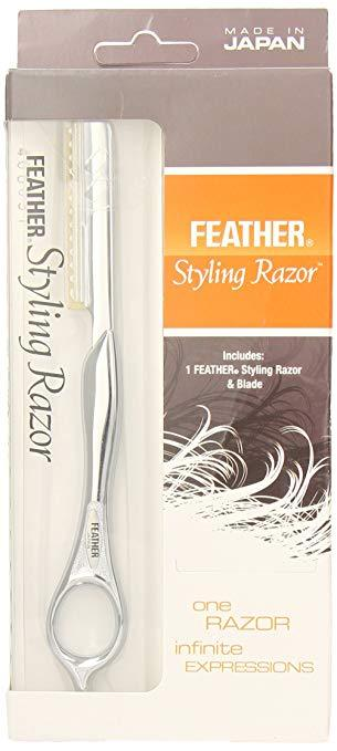 Feather Silver Styling Razors