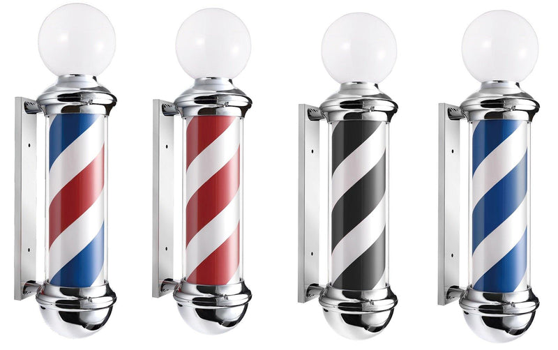 "Premium Rotating Barber Pole (8.3"" Cylinder)"