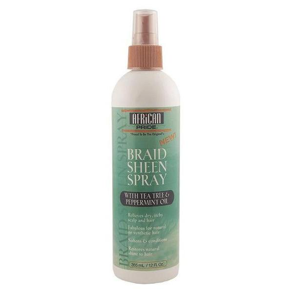 African Pride Braid Sheen Spray W/ Tea Tree Oil 12oz