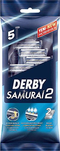 Derby Samurai2 Disposable Twin Blade 5ct
