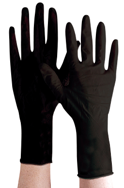 Jetblack Reusable Black Latex Gloves