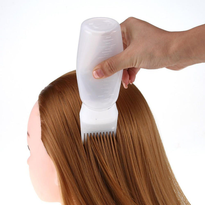 Hot Hair Dye Bottle Applicator Brush Dispensing Salon Hair Coloring Dyeing
