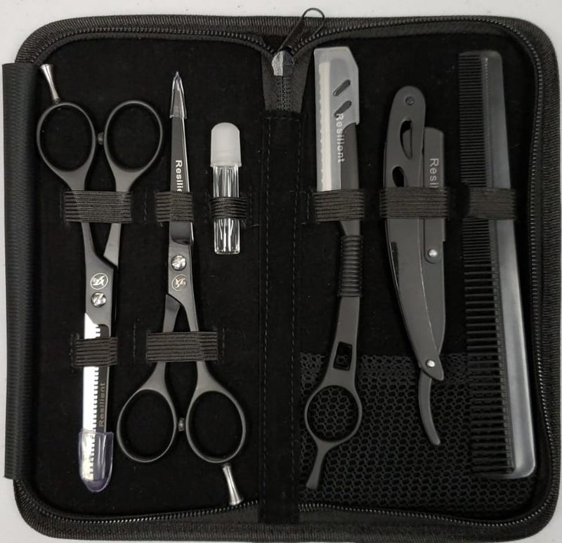 Black 6pc Barber Kit