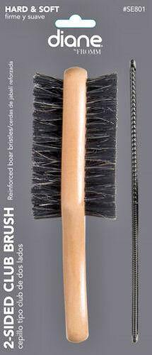"2-Sided Club Brush with 7"" Comb"