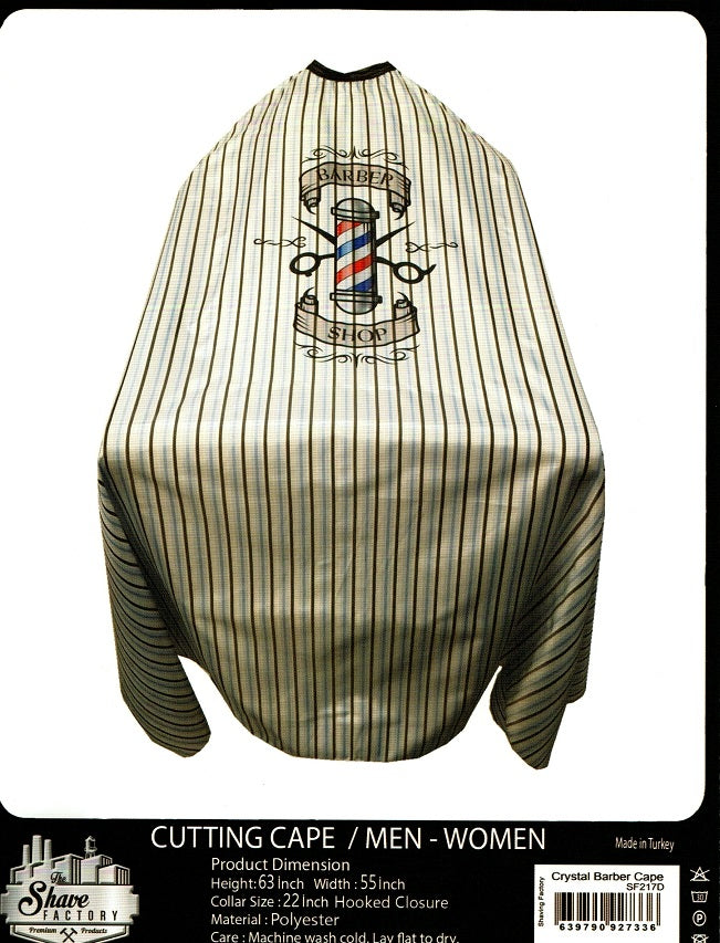 Striped Barber Pole Cutting Cape (D)
