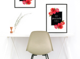 """Pay Yourself First"" Floral Frame Instant Download Print (8.5 x 11)"