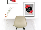 """Talk About Money"" Floral Striped Instant Download Print (8.5 x 11)"