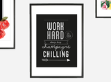 """Work Hard"" Typographic Instant Download Print (8.5 x 11)"