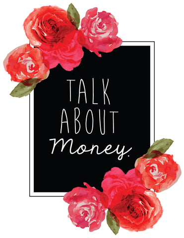 """Talk About Money"" Floral Frame Instant Download Print (8.5 x 11)"