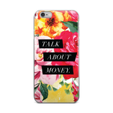"""Talk About Money"" Floral Geometric iPhone Case"