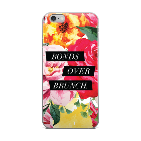 """Bonds Over Brunch"" Floral Geometric iPhone Case"