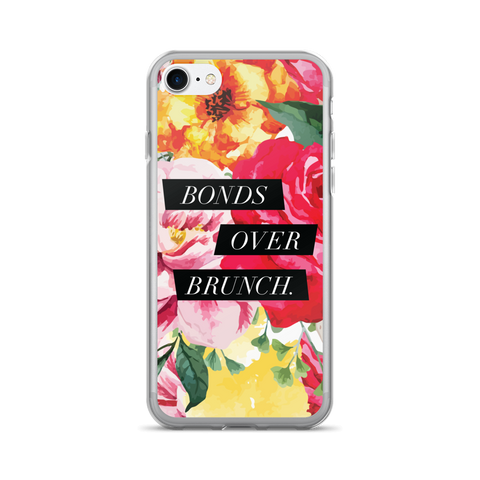 """Bonds Over Brunch"" Floral Geometric iPhone 7/7 Plus Case"