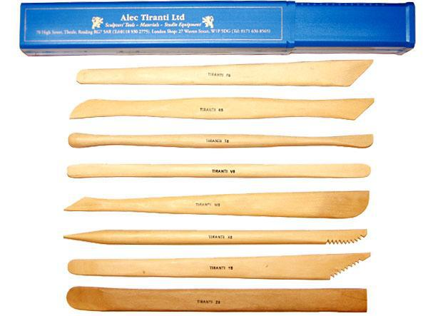 Student Hardwood Tools – Set of 8 in Box-Tiranti-Atlas Preservation