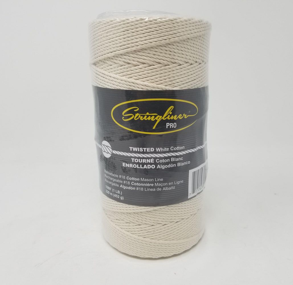 Mason's Twine - Twisted, Cotton White - 1 LB-Stringliner-Atlas Preservation