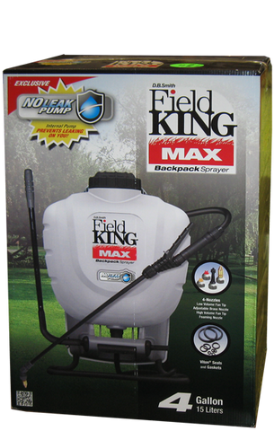 Field King Max Professional Backpack Sprayer - 4 Gallon Tank
