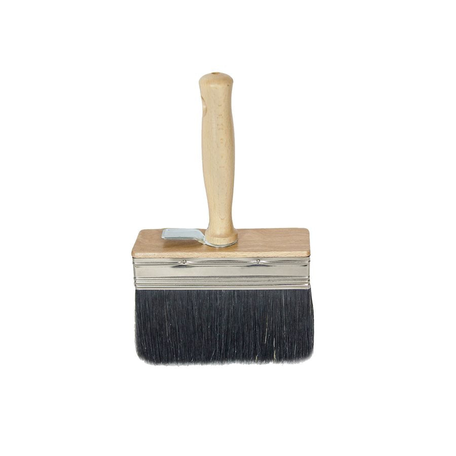 "Italian White Wash Brush - Black Bristle 4"" X 1""-Bon Tools-Atlas Preservation"