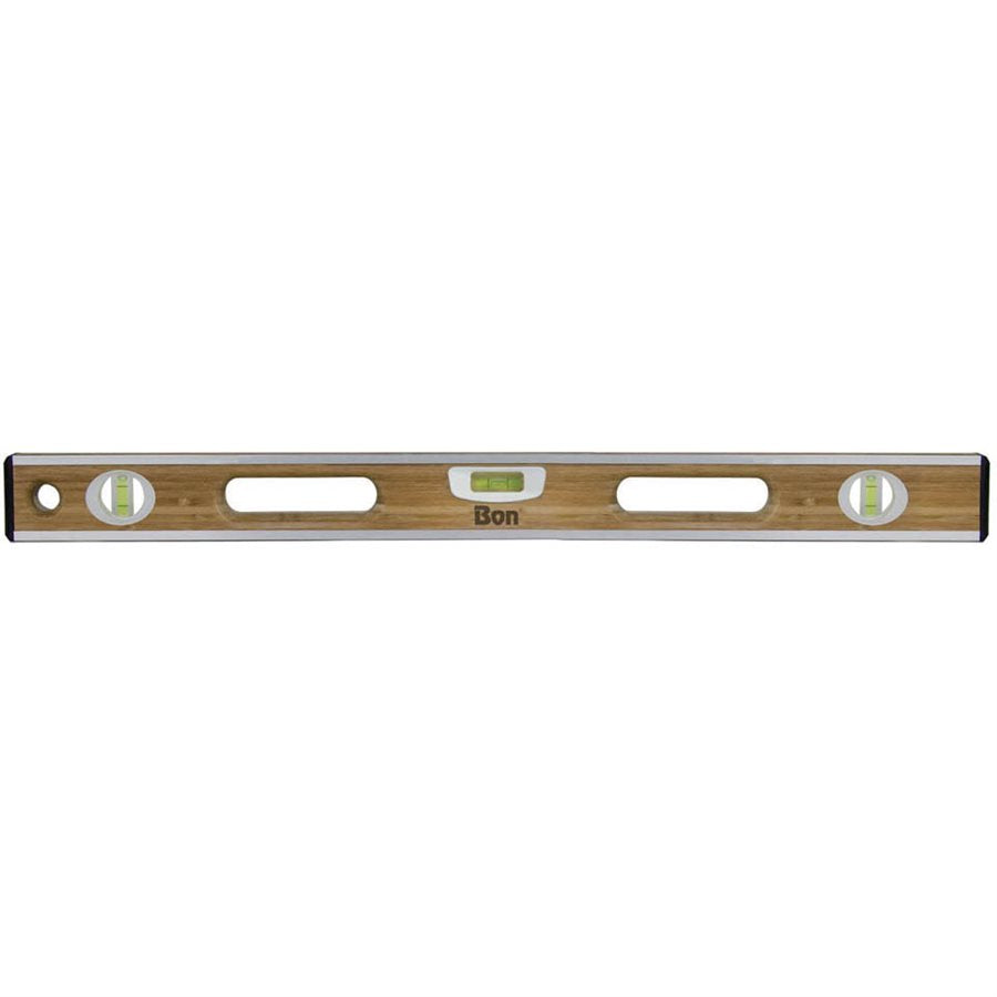 "Bamboo Wood Level - 24"" Aluminum Bound-Bon Tools-Atlas Preservation"