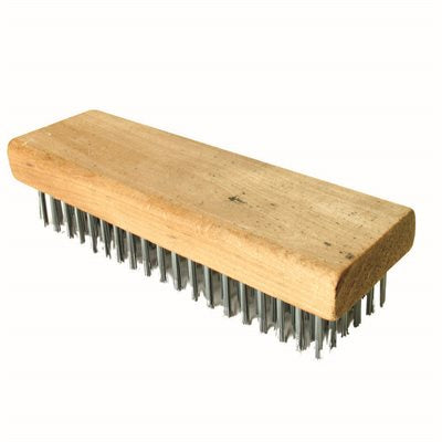 "Wire Brush - Straight Back - 7 1/4"" X 2 1/4""-Bon Tools-Atlas Preservation"