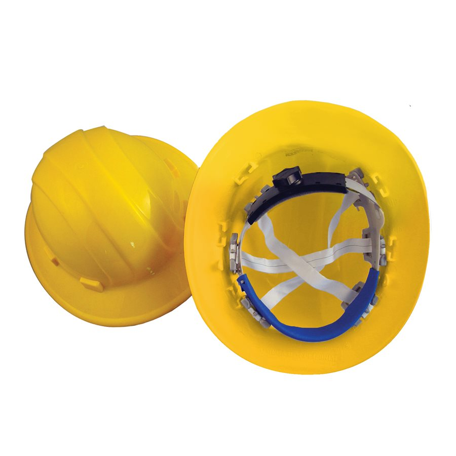 Bon Tools - Hard Hat Full Brim (Yellow) - with ratchet - Atlas Preservation