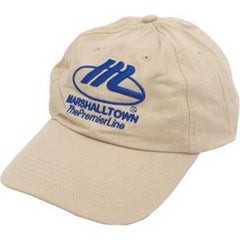 Khaki Cap w/ Blue Logo-Marshalltown Tools-Atlas Preservation