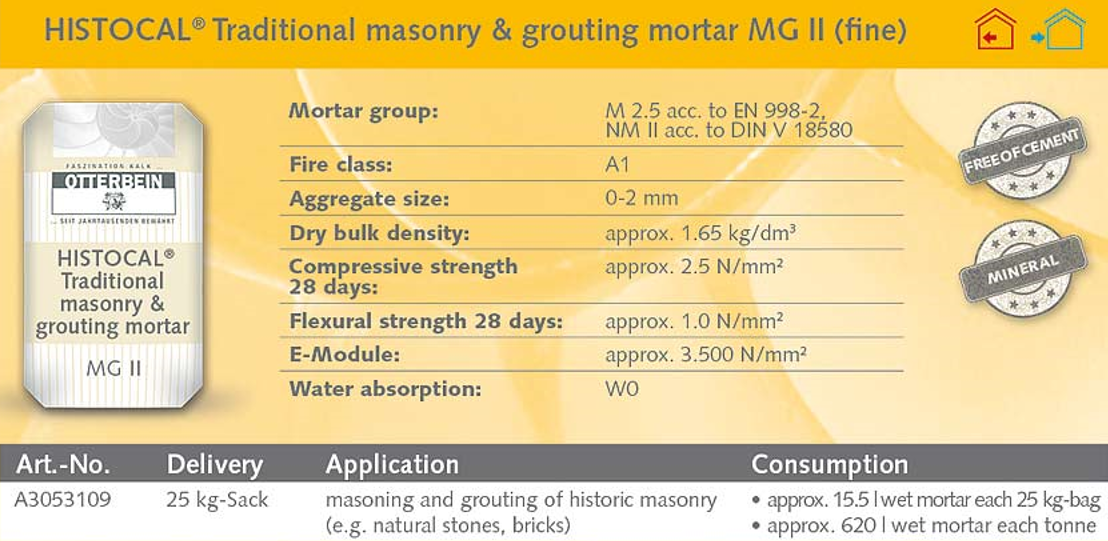 Historic Pointing Mortar   Moderate Strength, Fine 55kg