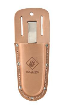 Genuine Leather Pruner Holder w/ Metal Belt Clip-Wolverine Tools-Atlas Preservation