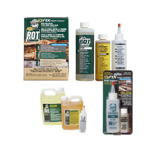 PC-ROT TERMINATOR - Epoxy Rotted Wood Hardener for structural damage repair-Protective Coating Company-Atlas Preservation