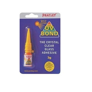 Pratley UV Bond Crystal Clear Glass Adhesive - 3 Grams