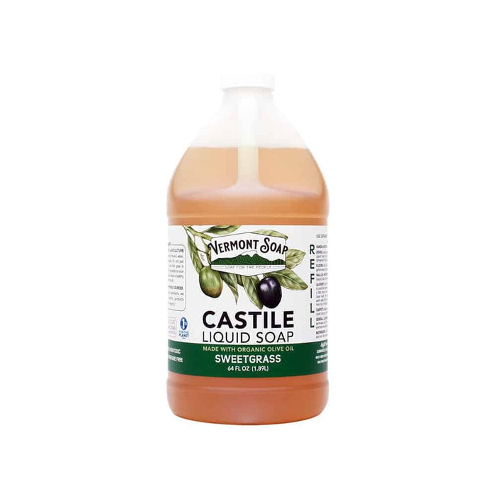 Sweetgrass Castile Liquid Soap-Vermont Soap-Atlas Preservation