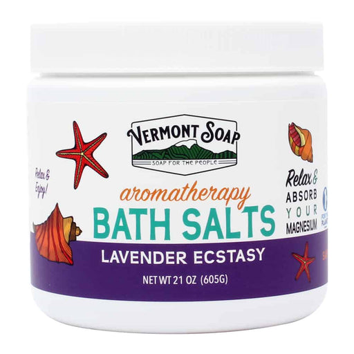Lavender Ecstasy Aromatherapy Bath Salts 21oz Jar-Vermont Soap-Atlas Preservation