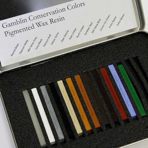 Gamblin Pigmented Wax Resin - 12 Colors-Gamblin-Atlas Preservation