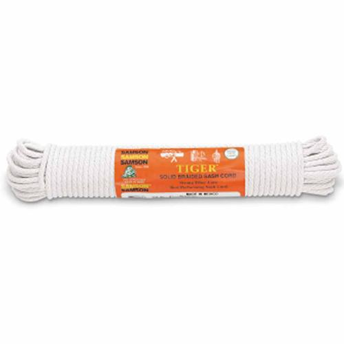 "Solid Braided Sash Cord - 1/4"" / 100 Ft (Cotton)-Samson-Atlas Preservation"