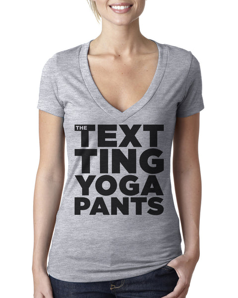 """The Texting Yoga Pants"" Block Letters Tee"