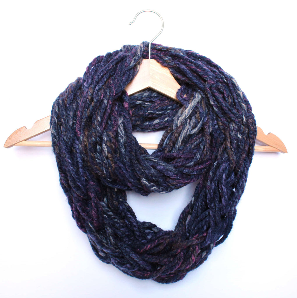 Endive Arm Knitted Infinity Scarf
