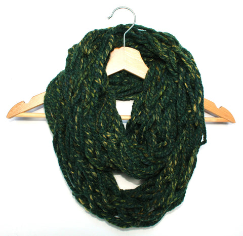 Parsley Arm Knitted Infinity Scarf