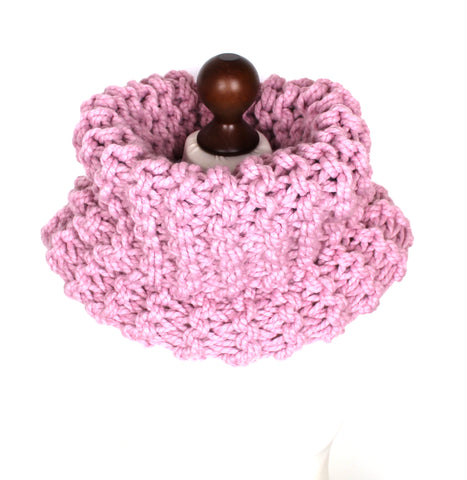Baby Pink Super Chunky Cowl