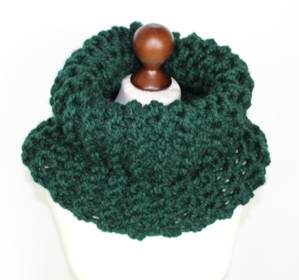 Bottle Green Super Chunky Cowl