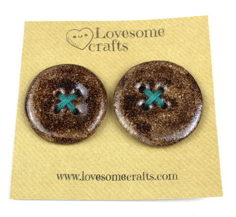Brown Ceramic Buttons