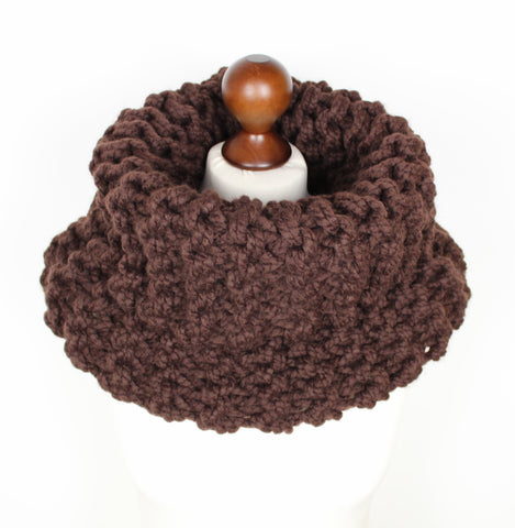 Chocolate Brown Super Chunky Cowl