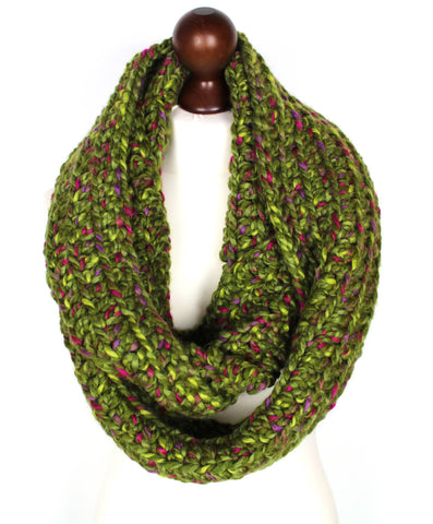 Green Tweed Oversized Scarf
